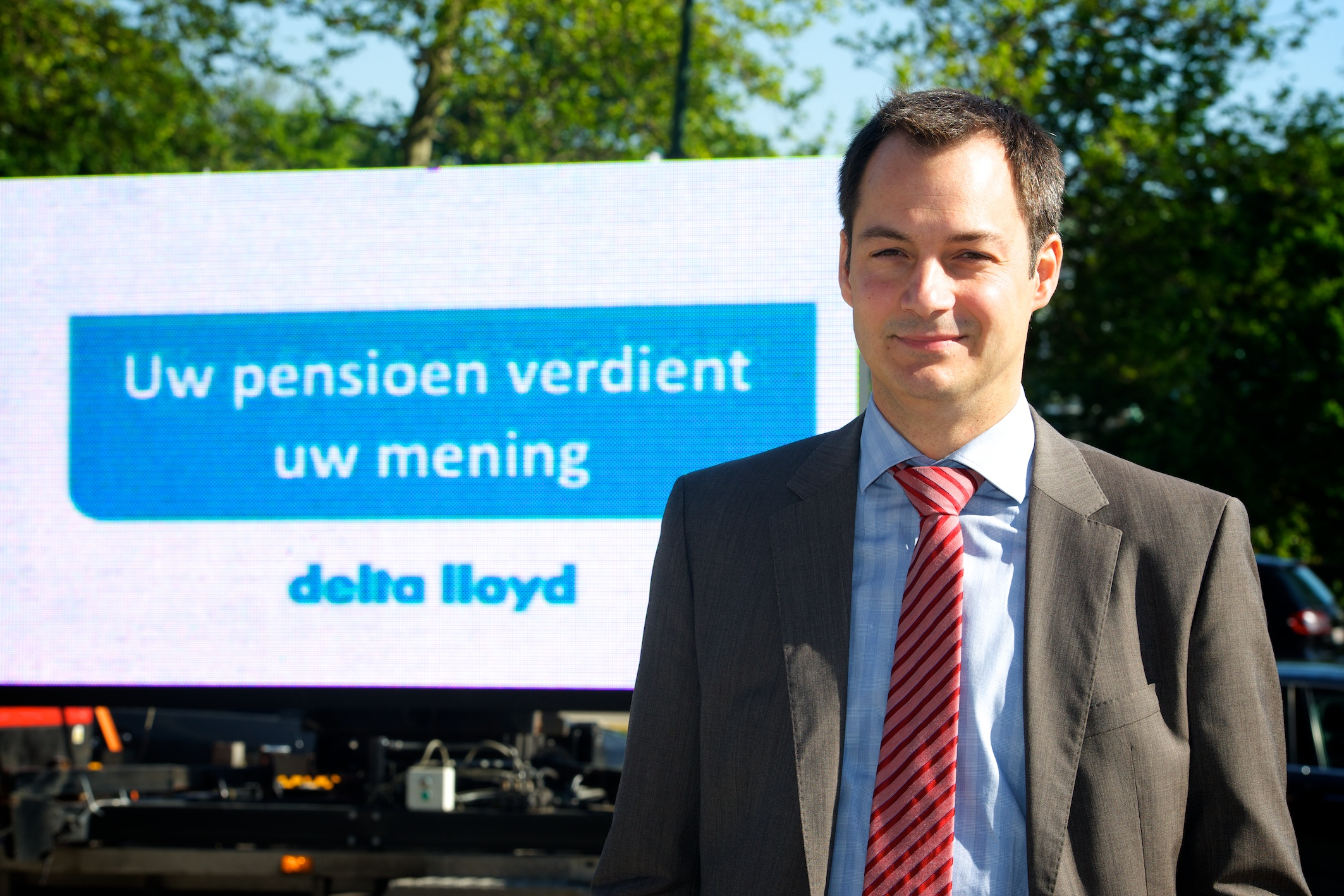 Alexander De Croo voor Delta Lloyd